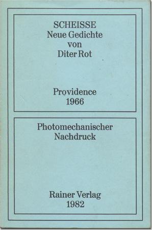 Dieter Roth Scheisse Neue Gedichte Von Diter Rot